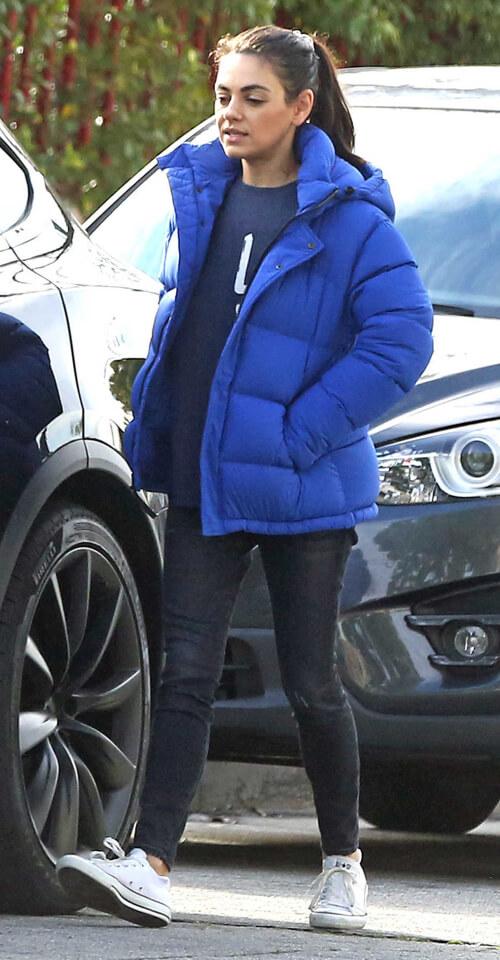 Mila Kunis in The Original Super Puff in Bluebell