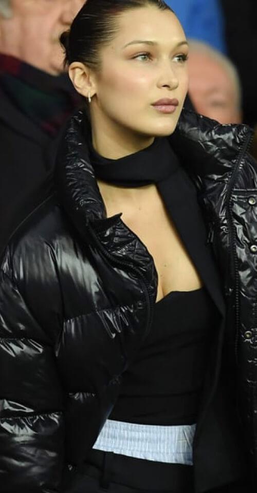 Bella Hadid in The Original Super Puff in Black