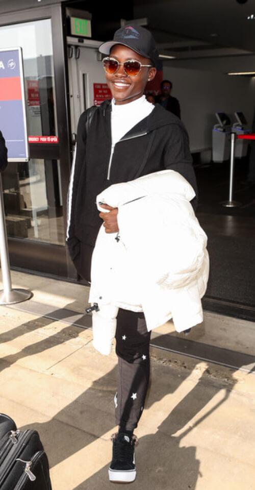 Lupita Nyongo in The Original Super Puff in White