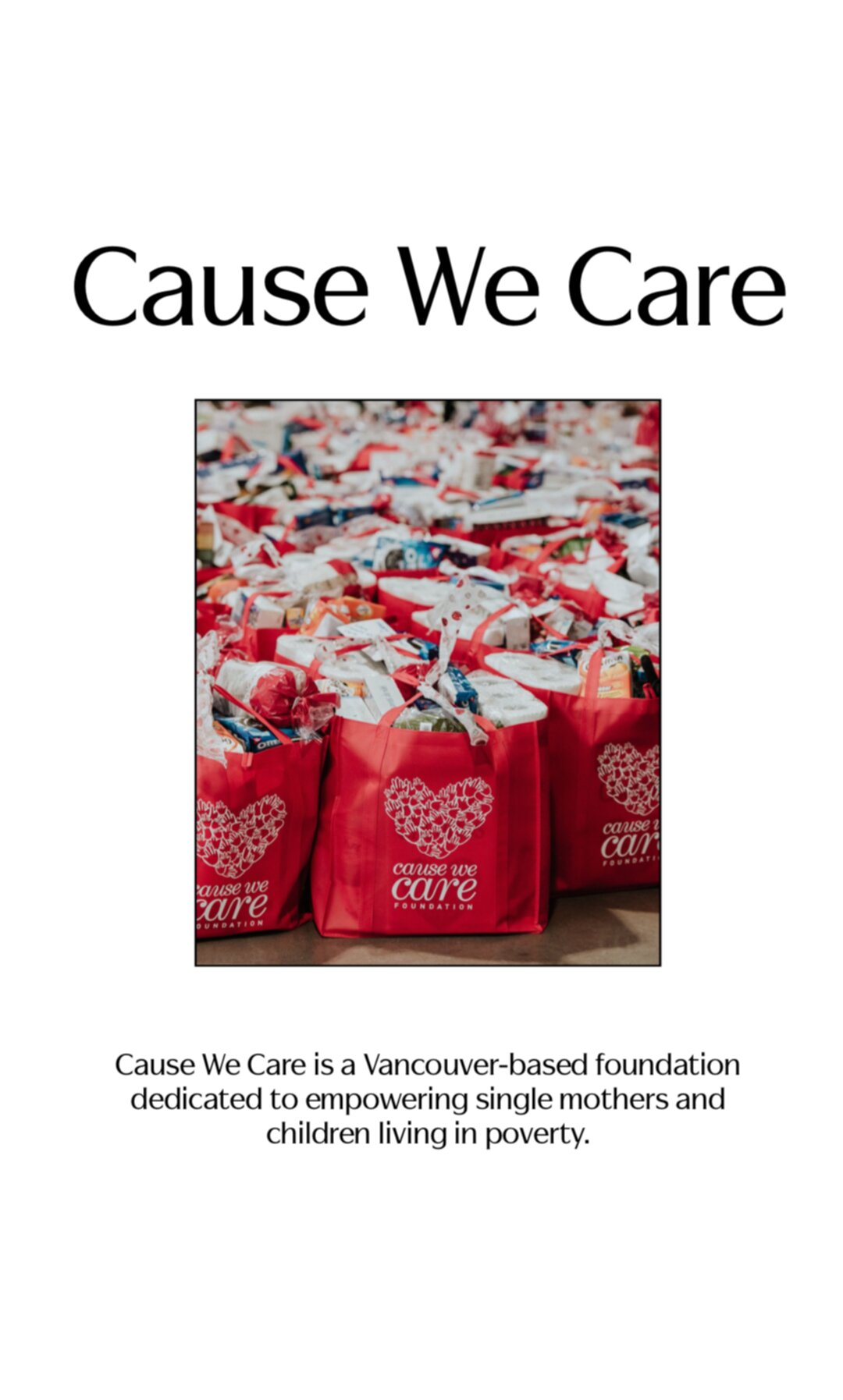 Cause We Care Story 3
