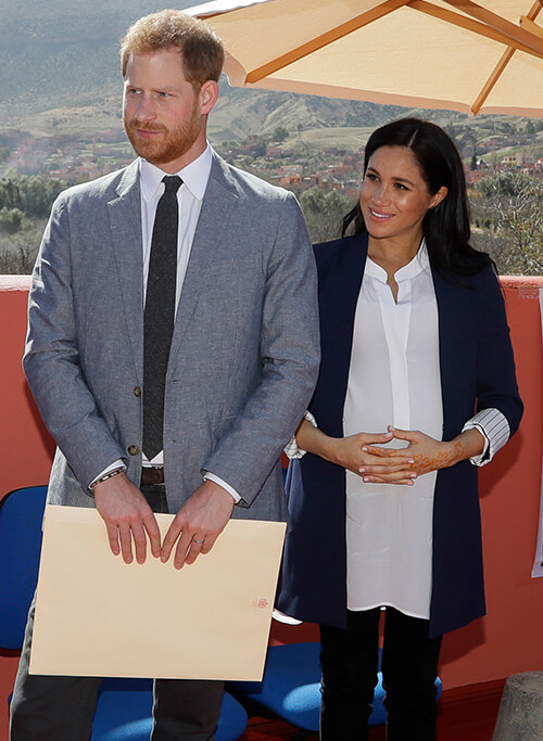 Meghan Markle wearing the Roland Blouse
