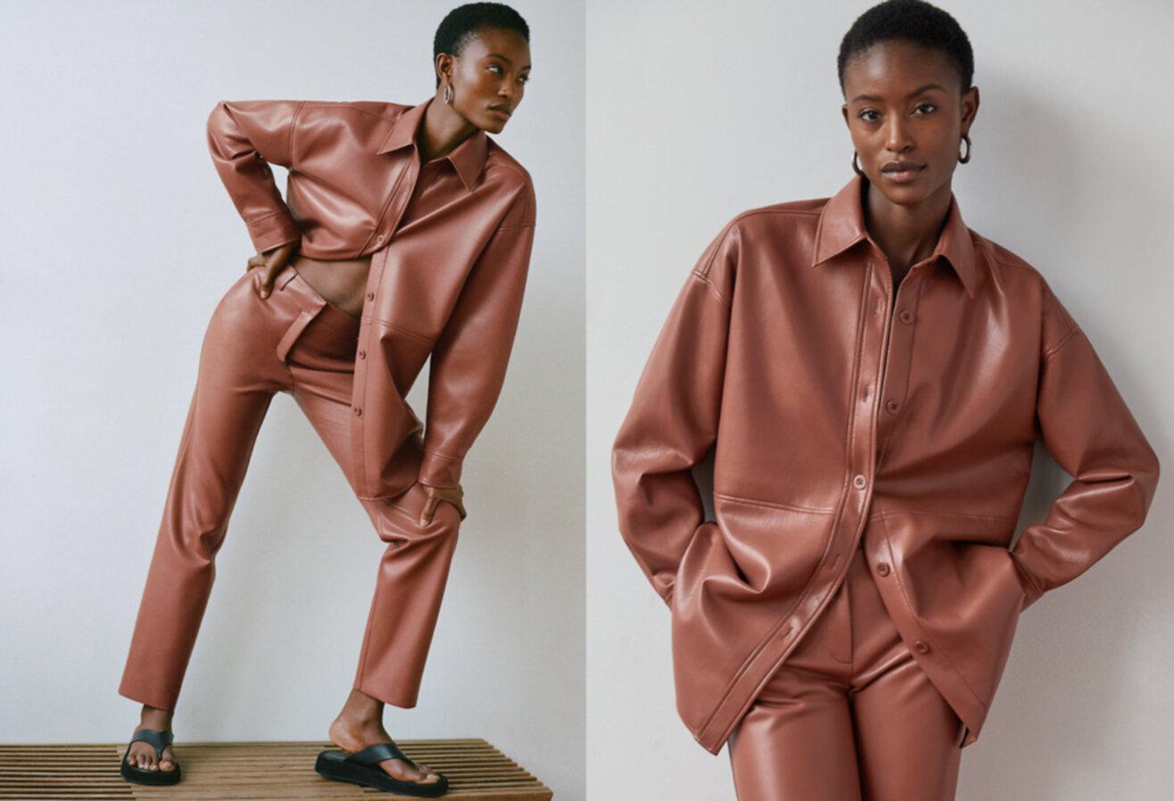 Woman wearing Aritzia coat