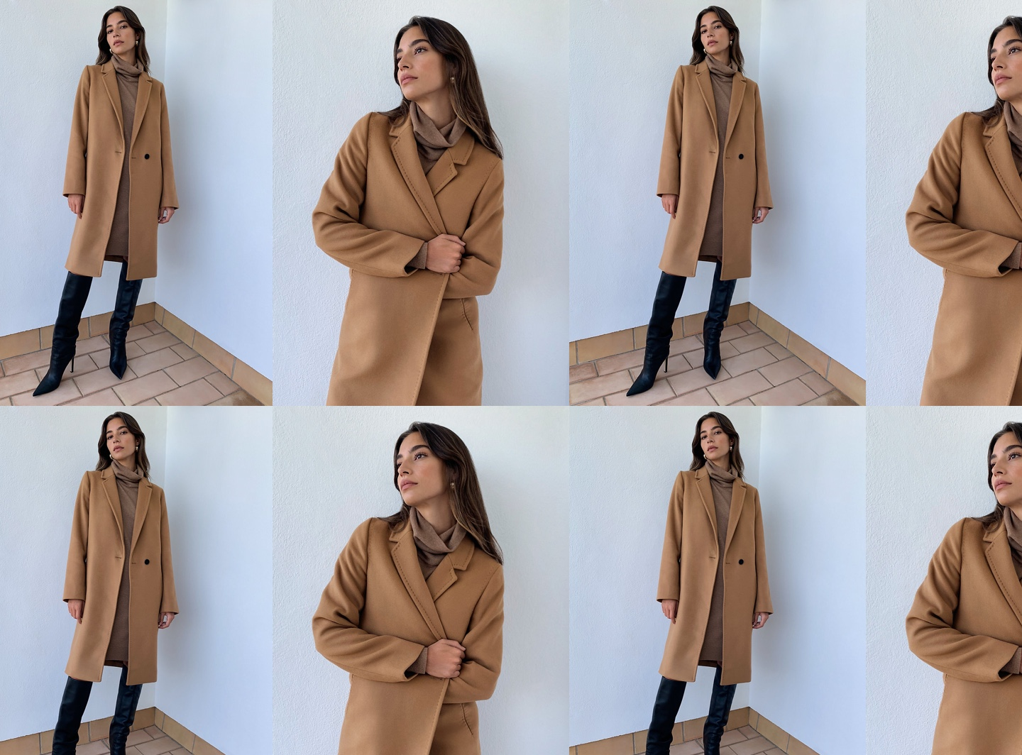 Woman wearing Aritzia coat